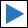 Wegzeichen blaues Dreieck (rechts)