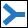 Wegzeichen blaue Gabel (rechts)
