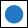 Wegzeichen blauer Kreis