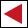 Wegzeichen rotes Dreieck (links) HW1 HW2
