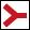 Wegzeichen rote Gabel (rechts)