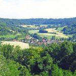 Blick von Langenburg ins Jagsttal und nach Bächlingen (Reinhard Wolf)