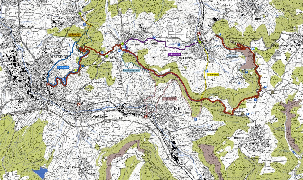 Gustav-Ströhmfeld-Weg - Karte (Geobasisdaten LGL 6/2013 , Az. 2851.3 -D/605; www.lgl.de)