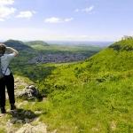 Blick zur Festungsruine Hohenneuffen (Foto: Sarrazin)